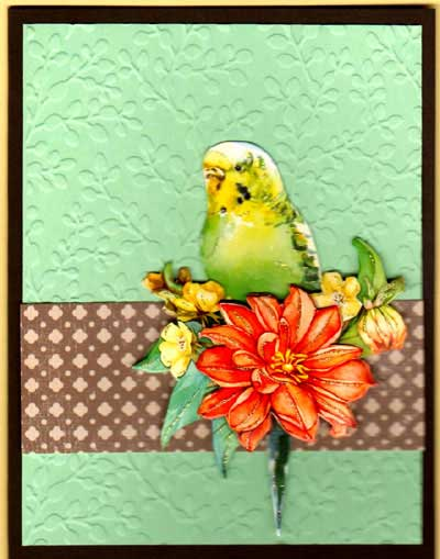 3-D Bird & Blossom - Click Image to Close