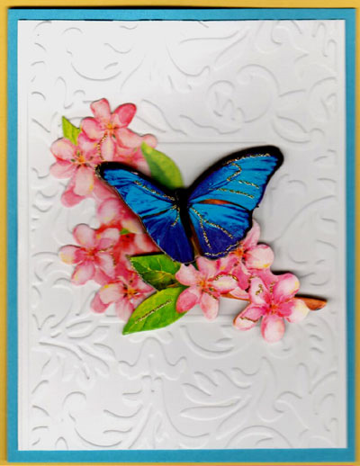 3-D Butterfly Flowers Card Set - Click Image to Close