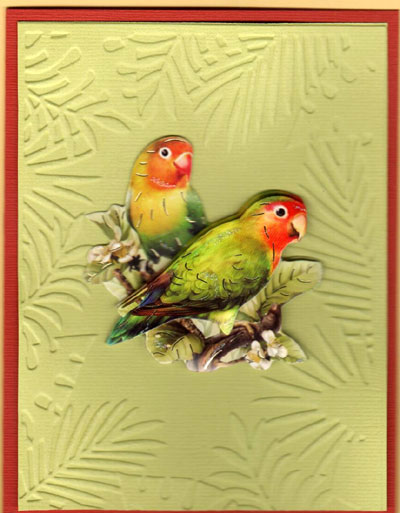 3-D Colorful Birds Card Set - Click Image to Close