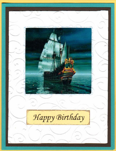Sailing Ships Acetate Card Set - Click Image to Close