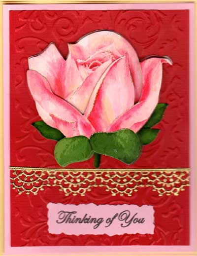 3-D Tapestry & Lace Flowers Card Set - Click Image to Close