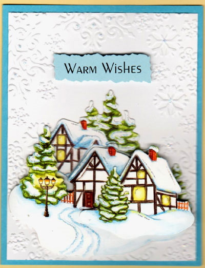 3-D Warm Wishes Winter Villages Card Set - Click Image to Close