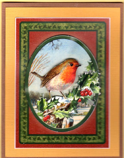 3-D Winter Robin Card Set - Click Image to Close