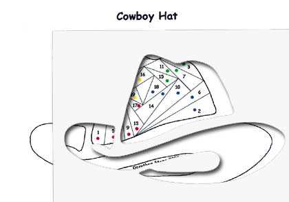 cowboy hat die cut package dcp cowboyhat 3 75 of the