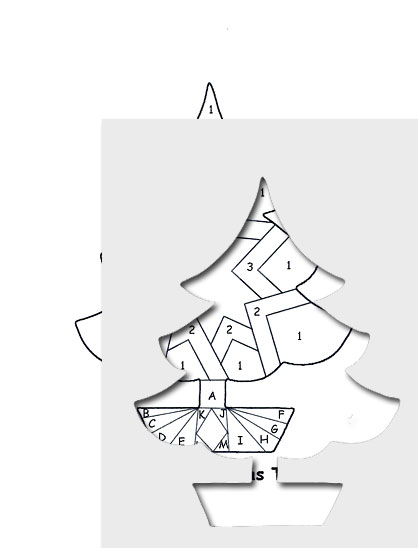 Iris folding pattern picture
