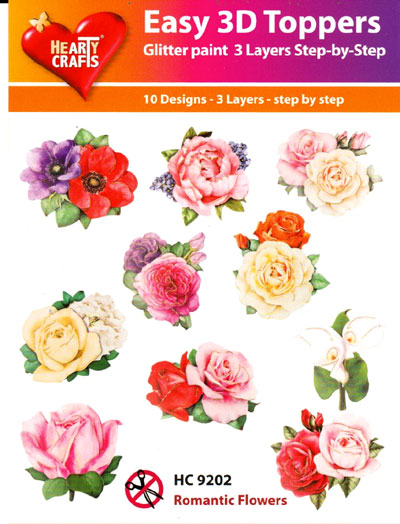 Easy 3d Paper Tole Toppers Romantic Flowers Of The Heart Rubber